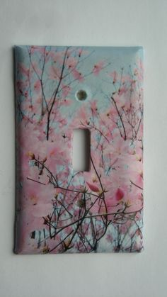 Cherry Blossoms  Fun Decorative Light Switch cover by Nikalette, $7.00