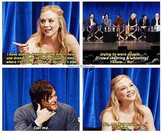 norman reedus & emily kinney - the walking dead