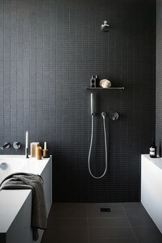 Bathroom Trends 2014 : Grey Tiles