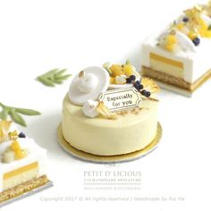 2017.09. Miniature Cheesecake Mango ♡ ♡ By Petit D'licious