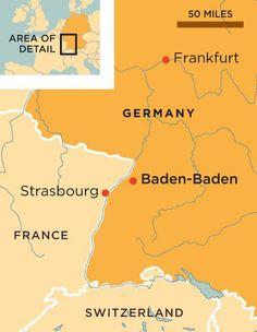 The park-like city of Baden-Baden, nestled in the Black Forest, is renowned for its restorative spas and elegant casino Baden Germany, Frankfurt Germany, Rick Steves, Strasbourg, Europe, France, Map, History, Historia