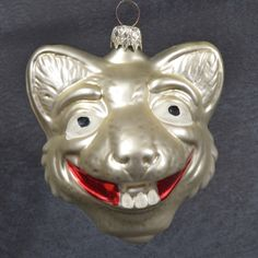 Vintage CHRISTMAS Ornament CREEPY SMILING Buck TOOTH CAT Figural W GERMANY Large | eBay Cat Christmas Ornaments, Christmas Cats, Creepy, Germany, Tooth, Crystals, Holiday Decor, Glass, Ebay