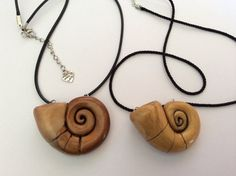 Enchanted golden shell necklace by CraftyFelix on Etsy