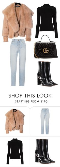 """""""Arriving"""" by saradiamondlovee ❤ liked on Polyvore featuring Balmain, Yves Saint Laurent, Vetements and Gucci"""