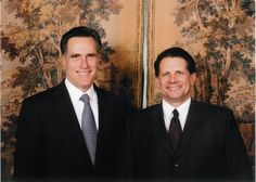 Mitt Romney and Chuck Gray