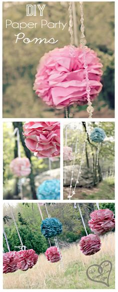 We Lived Happily Ever After: Printing Paper Poms! Beautiful DIY Decorations