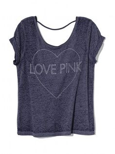 Love Pink #low cut #back #Victoria Secret