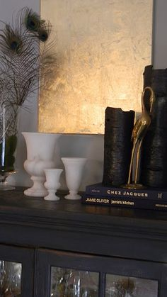Great Black Vases - The Design Pages: Gold Leaf a Canvas