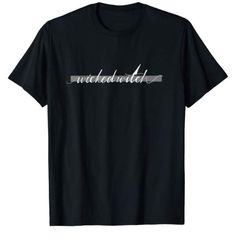 Wicked Witch Halloween T-Shirt, including original design of penmanship & witch hats.