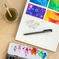 Caja de herramientas: 8 técnicas de acuarela para principiantes #diycraftchallenge #tutorial #watercolor