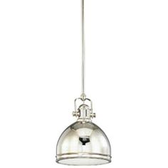 Ferguson Hudson Valley Lighting HUD8008PN Windham Mini-Pendant Pendant Light - Polished Nickel