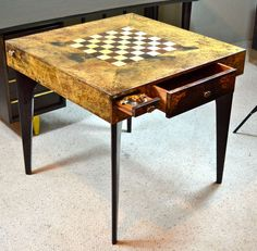 Aldo Tura Games Table | From a unique collection of antique and modern game tables at http://www.1stdibs.com/furniture/tables/game-tables/