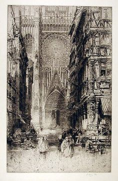 Hedley Fitton. Etching