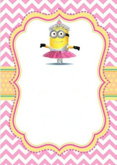 Printable girl minion party invitation. You are welcome!
