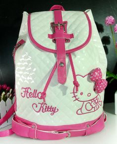 New Cute  Hellokitty  BACKPACK  BAG PURSE  KKL-5041W02   Size Large