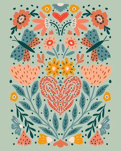 Spring Nails, Nail Inspo, Happy Friday, Digital Illustration, Floral Design, Digital Art, Quilts, Instagram, Floral Patterns