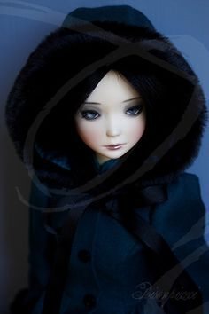 Sayo wearing a beautiful coat made by Dominque BB. Thanks Dominique! by Isenn on flickr