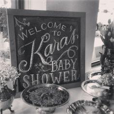Winter Baby Shower - weddingchalkart.com