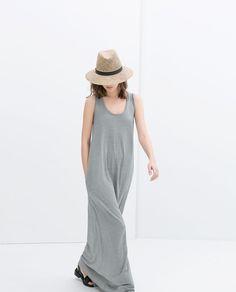 Image 1 of LONG STRIPED DRESS from Zara