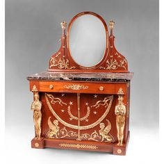 French Empire Bronze Mounted Dresser After Jacob Desmalter from Pia's Antique Gallery at RubyLane.com