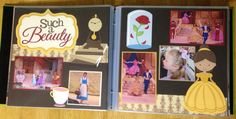 """Beauty and the Beast kit from """"Out on a limb scrapbooking"""" our trip October 2014."""