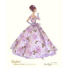 vintage fashion sketches | Vintage Fleurette Barbie Print | ThisNext