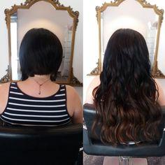 Extensions cheveux court avant
