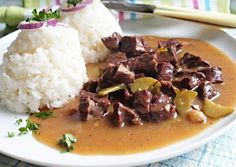 Hovězí srdce na slanině v okurkové omáčce No Salt Recipes, Stew, Meat