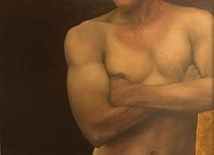 Sheila Pomeroy: Man ~ oil on panel Dramatic Lighting, Human Art, Nude Photography, Light And Shadow, Artist, Body Parts, Oil, Gallery, Infinite