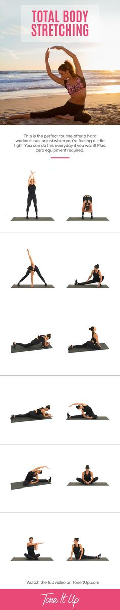 The 8 minute Stretching Routine You NEED After a Killer Workout! Check out the video on ToneItUp.com