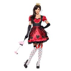 The Queen of Hearts costumes available here are unlike any other. Our Alice in Wonderland Queen of Hearts Halloween costumes come in sexy styles and elite plus sizes. White Queen Costume, Queen Of Hearts Costume, Snow White Costume, White Costumes, Plus Size Adult Halloween Costumes, Adult Costumes, Costumes For Women, Halloween Ideas, Alice Halloween
