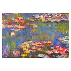 Equally at home in an artful collage or on its own as an eye-catching focal point, this canvas giclee print features Claude Monet's Water Lilies, 1916...