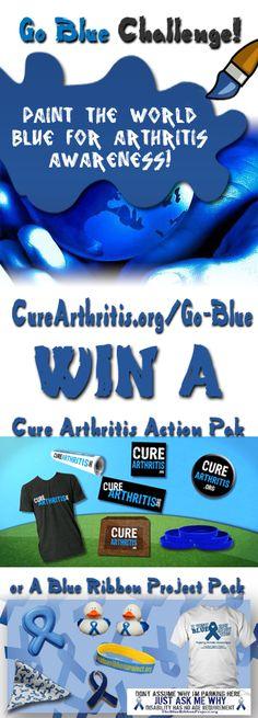 Join the Go Blue For Arthritis Challenge! http://CureArthritis.org/Go-Blue