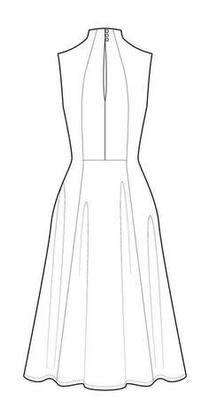 Buy the Jackie Dress sewing pattern from Victory Patterns, an elegant, comfortable knit dress that slips perfectly from day into night. Fashion Design Sketches, Dress Sewing Patterns, Estilo Retro, Fashion Flats, Knit Dress, Womens Fashion, Fashion Trends, Creations, Barbie