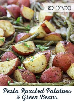 Dinner couldn't be easier with Pesto Roasted Potatoes and Green Beans! Made with red potatoes that stay firm through roasting. We're pretty sure your search for a simple and delicious side dish is over!