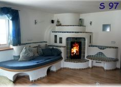 Incredible prices on the tiled stove, a piece of sun for the home … in Gnas … - New Day New Diy! Earth Bag Homes, Earthship Home, Interior Architecture, Interior Design, Solar House, Rocket Stoves, Farmhouse Style Kitchen, Fireplace Design, Building A House