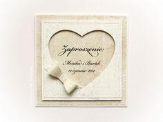 Zaproszenie w beżu WZÓR 1 Wedding Cards, Wedding Invitations, Anniversary Cards, Place Cards, Scrapbooking, Place Card Holders, Frame, Inspiration, Weeding