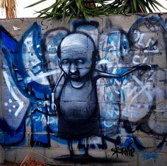 """Antonio"" 65 year resident of Moir St, Northbridge, Perth, Western Australia. Painted in April 2013. Stormie Mills. Antonio passed away in April 2016. RIP"