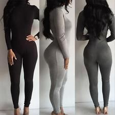 a74ed4e4f402 Find great deals for New Women Casual Long Sleeve Bodycon Romper Jumpsuit  Club Bodysuit Long Pants