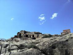 La ciudad cueva Uplistsikhe cerca de Gori