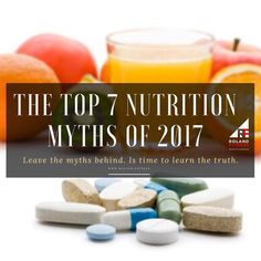 Picture of the day.  The top 7 nutrition myths of 2017  Leave the myths behind. Is time to Learn the truth Myth 1: Carbs are bad for you  The Truth: Carbohydrates have been vilified long enough. As long as you dont overindulge starches are not inherently