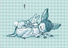 Adorable Bambi & Thumper sketch..