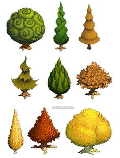30 Beautiful Tree Drawings and creative Art Ideas from top artists - Game Art Environment Concept, Environment Design, Game Environment, Piskel Art, Doodle Drawing, Pixel Art Games, Game Concept Art, Tree Illustration, Environmental Art
