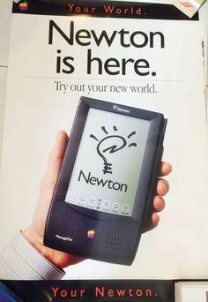 Apple Newton MessagePad Poster. Mint, never hanged.