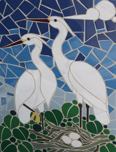 Image result for mosaic cranes