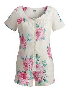Joules Josette Pyjama Set in Cream Floral - Anna Davies