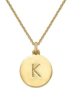 kate spade new york 12k Gold-Plated Initials Pendant Necklace  Another lovely gift for me! :) hint hint Zach