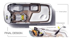 A team project sonsored by Continental for 2020 autonomous interior design cooperated with IXD design
