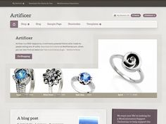 Artificer is a free WooCommerce theme from WooThemes. Great for: Indie Artisans. No more excuses Etsy-preneur - this one's free and runs on Wordpress! Free Html Website Templates, Free Ecommerce, Cool Themes, Wordpress Template, Start Up Business, Premium Wordpress Themes, Go Shopping, Web Design, Things To Sell