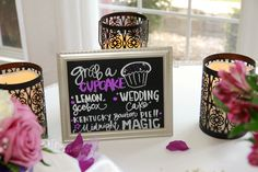 Wedding Cupcakes chalkboard